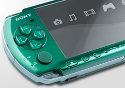 Close up of Spirited Green PSP-3000