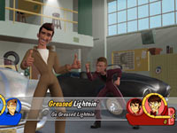 Singing along to Greased Lightnin' in Grease for Wii