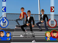 Multiplayer screen from Grease for Wii