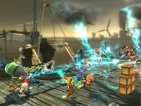 Batttle screenshot from Ratchet & Clank: All 4 One