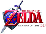 The Legend of Zelda: Ocarina of Time 3D game logo