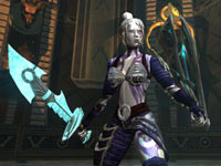 A female character with sword and shield in the EverQuest II: Destiny of Velious All-in-One Compilation Pack