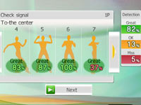 Progress tracking screen from Gold's Gym Dance Workout