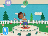 Stretching exercise with Diego in Nickelodeon Fit