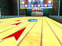Lane level view of a game from Game Party: In Motion
