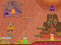 Hidden level and items within the game tapestry in Kirby's Epic Yarn