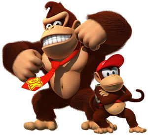 Donkey Kong and Diddy from Donkey Kong Country Returns