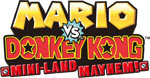 Mario vs. Donkey Kong Mini-Land Mayhem! game logo