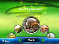 Environment select screen from uDraw Studio