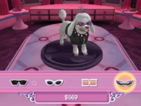 Customizing a pooble with sunglasses in Barbie Groom & Glam Pups