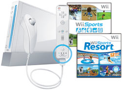 Wii with Wii Sports Resort, Wii Sports and Wii Remote Plus - White