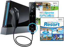 Wii with Wii Sports Resort, Wii Sports and Wii Remote Plus - black