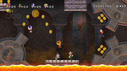 Classic looking Super Mario Bros. underground level in New Super Mario Bros. Wii