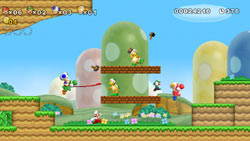 2-4 player simultaneous multiplayer in New Super Mario Bros. Wii