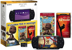 PSP-3000 bundle with LittleBigPlanet, Karate Kid UMD, 1 GB memory stick