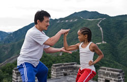 Still from The Karate Kid (2010) starring Jackie Chan and Jaden Smith