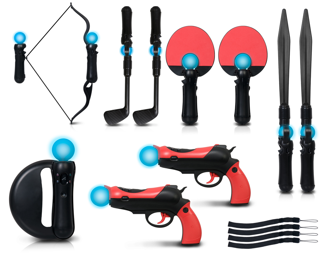 motion gaming accessory kit for PlayStation Move. View larger