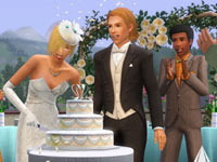A wedding reception in The Sims 3: Generations Expansion Pack