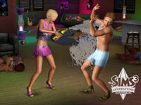 An interesting Sims after party in The Sims 3: Generations Expansion Pack