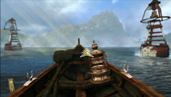 Steering a boat with the Wii Remote in Mystery Case Files: The Malgrave Incident