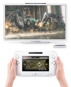 El sistema Wii U con el nuevo mando, la consola y el televisor