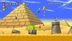 New Super Mario Bros. Pantalla de juego Mii