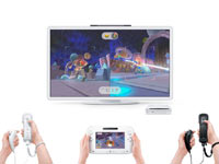 Jugabilidad de la Wii U con el nuevo mando y con los mandos de Wii Plus juntos