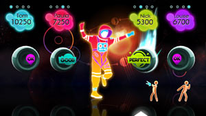 Pump Up the Volume dance track screen from Just Dance: Summer Party