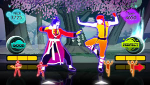 Kung Fu Fighting dance track screen from Just Dance: Summer Party