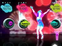 Firework dance track screen from Just Dance: Summer Party