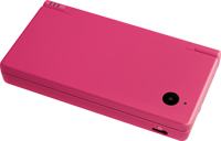 View of the Nintendo DSi Pink closed