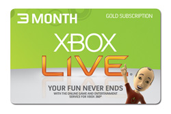 Xbox 360 Live 3 Months Subscription Gold Card