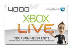 Xbox Live Points Card