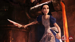 Alice brandishing her Vorpal blade in Alice: Madness Returns