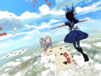 Using Alice's dress to float in Alice: Madness Returns