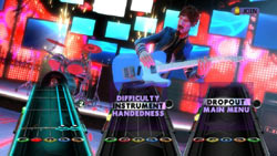 Classic Guitar hero gameplay in Band Hero