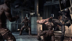 Batman in hand to hand combat in Batman: Arkham Asylum