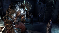 The huge Killer Croc in Batman: Arkham Asylum