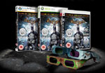Batman: Arkham Asylum game boxes with included Trioviz 3D vision glasses