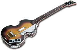 Paul McCartney's trademark - Höfner bass available for 'The Beatles: Rock Band'