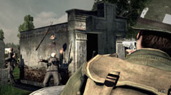 Using a pistol to go for 'quick kill' points in 'Brothers in Arms: Hell's Highway'