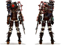 Big Sister front and back from 'BioShock 2'