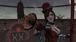 Mistress of ceremonies Moxxi from Borderlands: Mad Moxxi's Underdome Riot