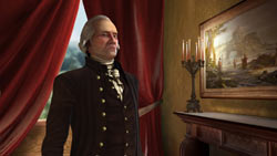 George Washington, leader of the American faction in Sid Meier''s Civilization V