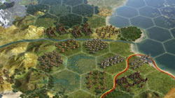 New hex oriented area sections in Sid Meier''s Civilization V
