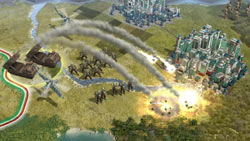 Ranged fire from behind enemy lines in Sid Meier''s Civilization V