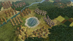Large scale battle in Sid Meier''s Civilization V