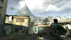 A battleground in the slums of Rio in 'Modern Warfare 2'