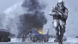 Leading a squad off a landing strip in 'Modern Warfare 2'