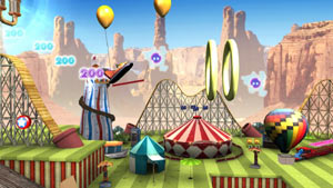 A circus-themed puzzle layout from Create
